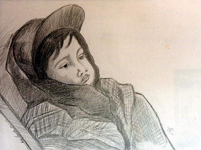 Child Drawing - Daniel  by CarloS Camacho