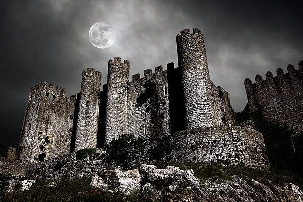 Ancient Photograph - Dark Castle by Carlos Caetano