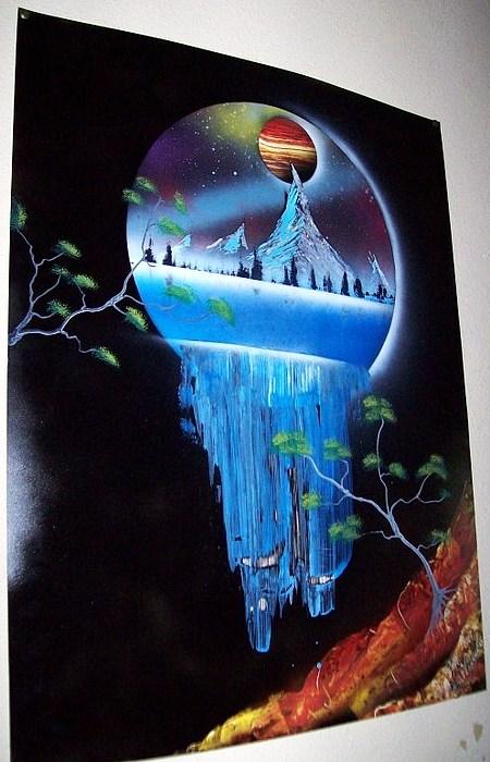 Darkfalls Mountains Painting by Mike Salgado