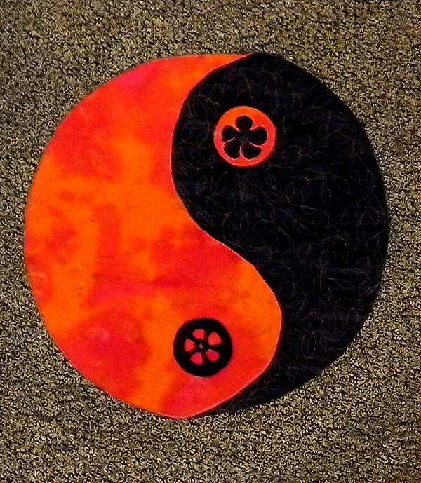 Yin-yang Tapestry - Textile - Darkness And Light by Maureen Wartski