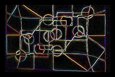 Darnilliouscope Neon Lrg Painting by Darnillious Designs
