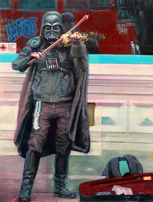 Darth Vader Painting - Darth Fiddler by Grant Newton