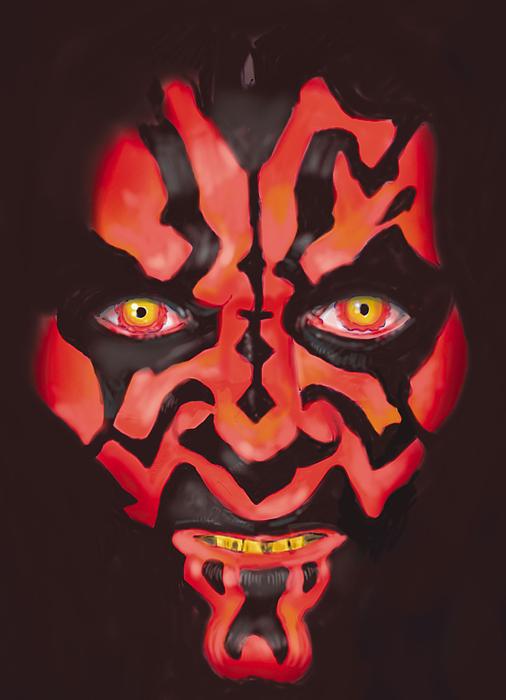 Star Wars Painting - Darth Maul by Mark Jennings