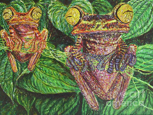 Frogs Painting - Date Night by David Joyner