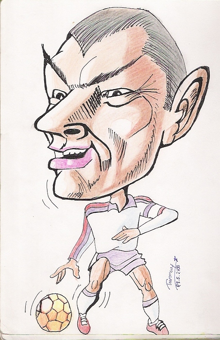 Fifa World Cup Painting - David Beckham by Tanmay Singh
