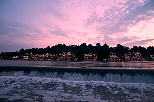 Boathouse Row Photograph - Dawn At Boathouse Row by Bill Cannon