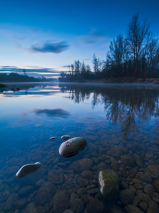 Landscape Photograph - Dawn At River by Davorin Mance