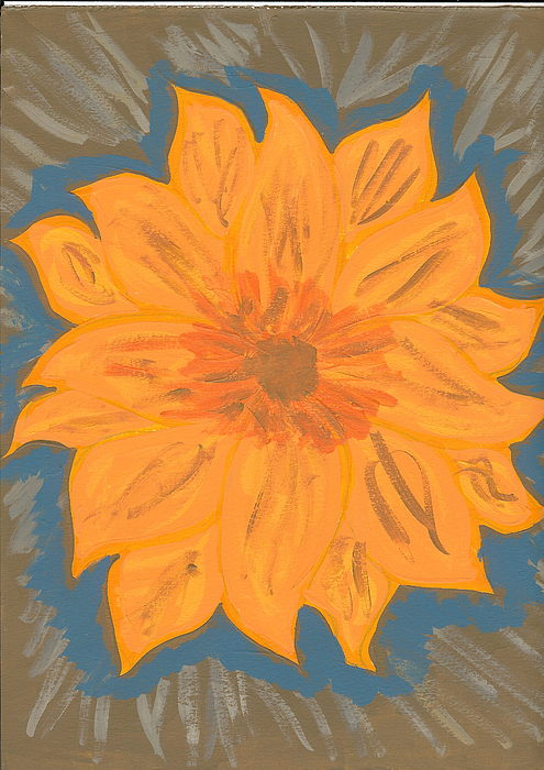 Flower Painting - Dawn by Laura Lillo