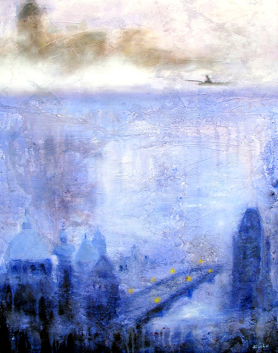Prague Painting - Dawn Of Prague by Keiko Richter