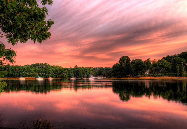 Boats Photograph - Dawn On The Saco River by David Bishop