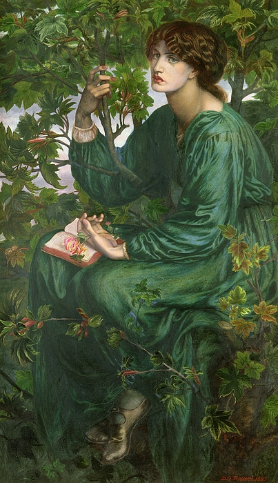 Portrait Painting - Day Dream by Dante Charles Gabriel Rossetti