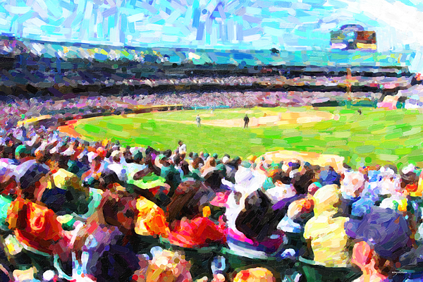 Baseball Photograph - Day Game At The Old Ballpark by Wingsdomain Art and Photography