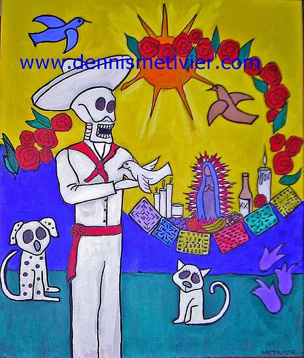 Mexico Painting - Day Of Dead 2 by Dennis  Metivier