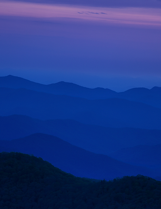 Blue Photograph - Days End At The Blue Ridge by Andrew Soundarajan