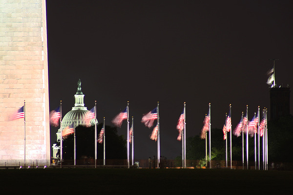Washington Dc Photograph - Dc At Night by Nancy Ingersoll