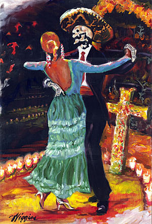 Dead Can Dance Painting by Wendell Wiggins