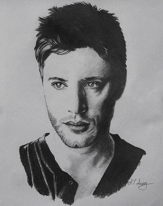 Portrait Drawing - Dean by Lisa Savoy