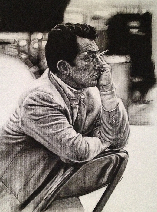 Dean Martin Drawing by Steve Hunter