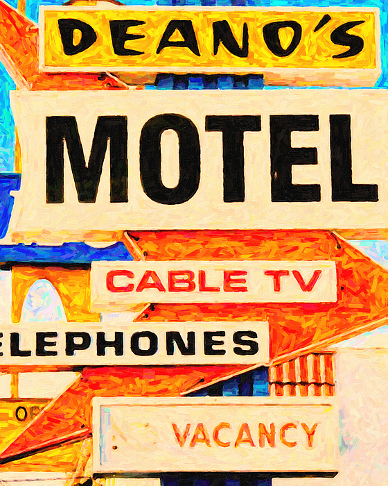Los Angeles Photograph - Deanos Motel by Wingsdomain Art and Photography