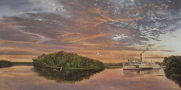 Debary Print - Debary On The St. Johns River by Keith Martin Johns
