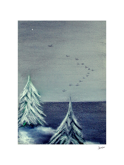 Winter Painting - December Dawn by Gary Jameson