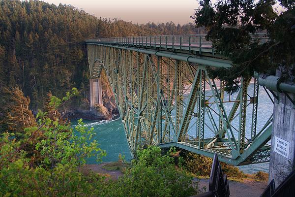 Deception Pass Bridge Photograph - Deception Pass Bridge Br-8943 by Mary Gaines
