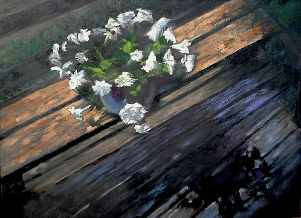Flowers Painting - Deck Flowers #1 by Brian Kardell