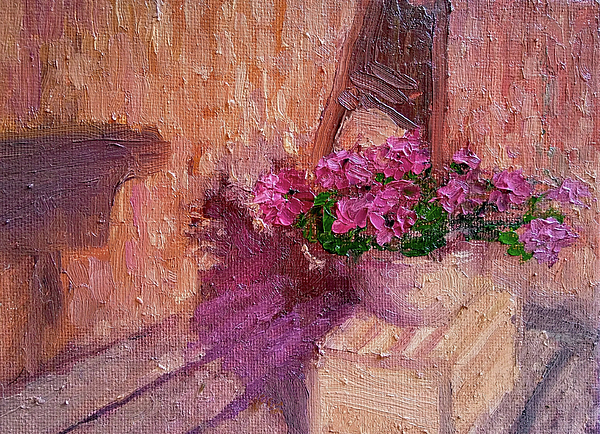 Flowers Painting - Deck Flowers #2 by Brian Kardell