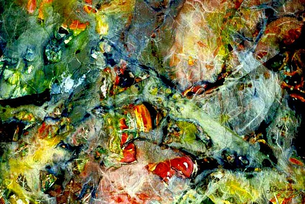 Abstract Artwork Painting - Deep In The Sea by Norma Boeckler