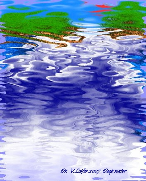 Water Digital Art - Deep Water by Dr Loifer Vladimir