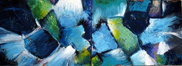 Deepest Blue Painting by Dan Bunea