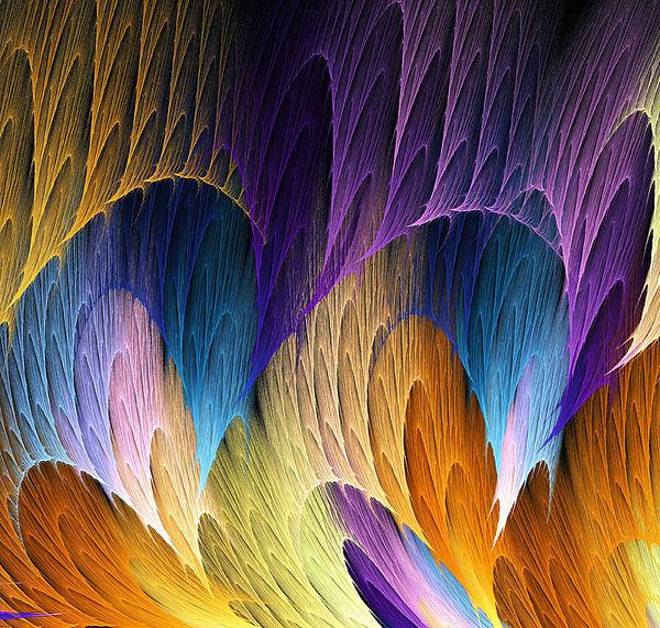 Apophysis Digital Art - Defying The Law Of Gravity by Lea Wiggins