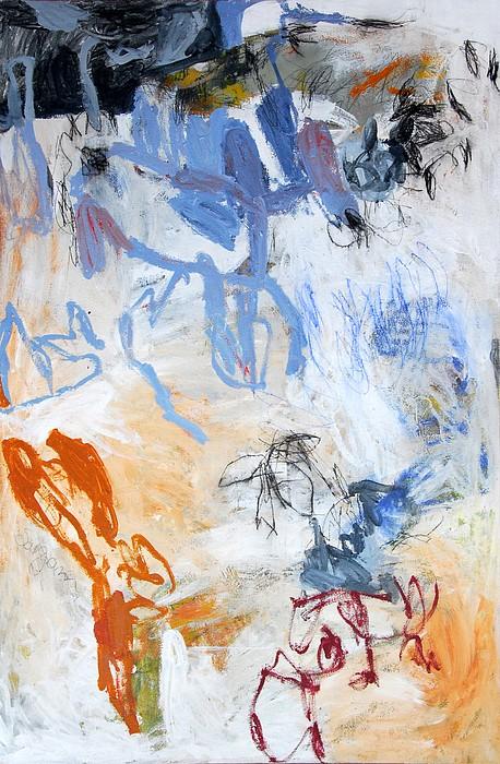 Abstract Painting - Delicatessen Salvaje by Sargam  Bagazgoitia