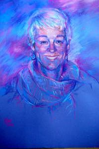 Portrait Painting - Delightful Dee by Tina Siddiqui