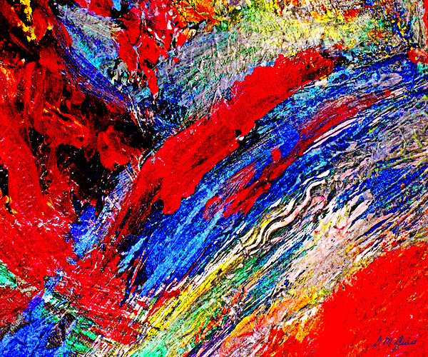 Abstract Painting - Delirium by Michael Durst