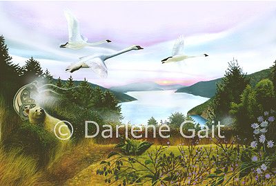 Wildlife Painting - Deliverance by Darlene Gait