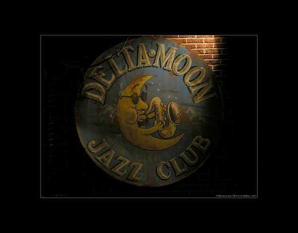Delta Photograph - Delta Moon Jazz Club - Color by Kate Watkins
