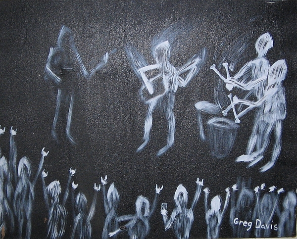 Concert Painting - Demon Band by Gregory Davis