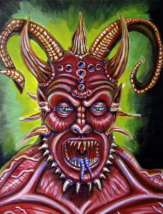 Demon Painting - Demon by Chris Benice