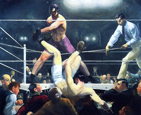 Pd Painting - Dempsey And Firpo by Pg Reproductions