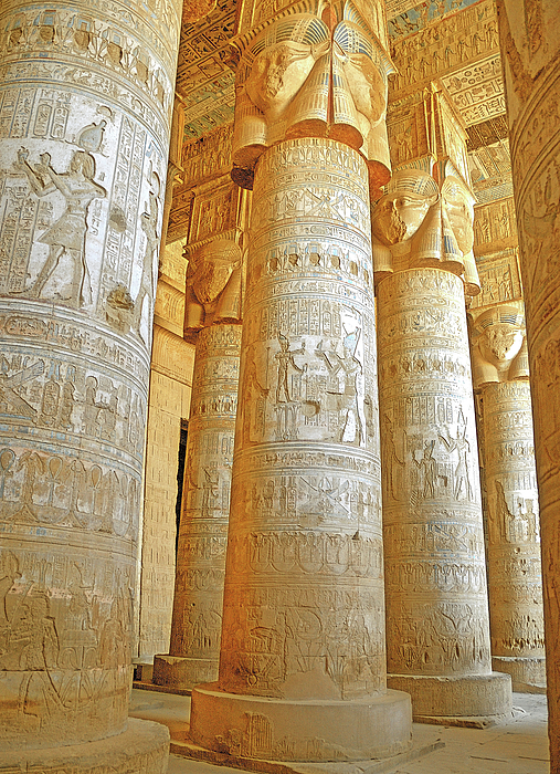 Dendera Photograph - Dendera Temple by Nigel Fletcher-Jones