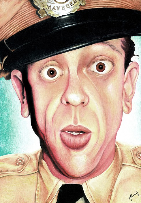 Portrait Painting - Deputy Of Mayberry by Marvin  Luna