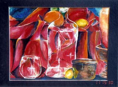 Bottle Painting - Deranged Still Life My Eye Opener by Amanda  Sanford