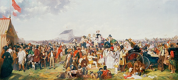 Derby Day (oil On Canvas) By William Powell Frith (1819-1909) (after) Painting - Derby Day by William Powell Frith