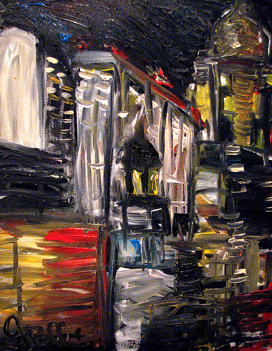 Landscape Painting - Des Moines Outcast  by Jon Baldwin  Art