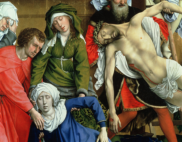 Descent From The Cross Painting - Descent From The Cross by Rogier van der Weyden
