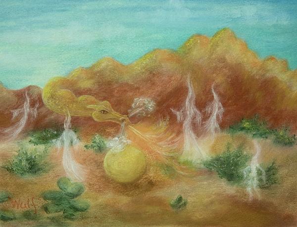 Desert Painting - Desert Dragon by Bernadette Wulf
