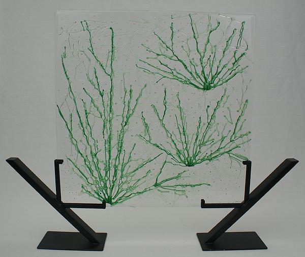 Desert Grass Glass Art by Louis Copper