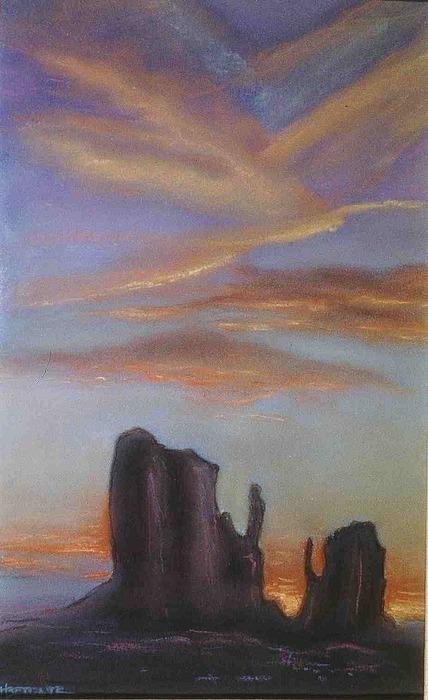 Desert Landscape Pastel - Desert Sky by Helen O Hara