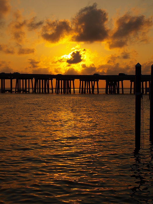 Sunset Photograph - Destin Harbor Sunset 1 by James Granberry